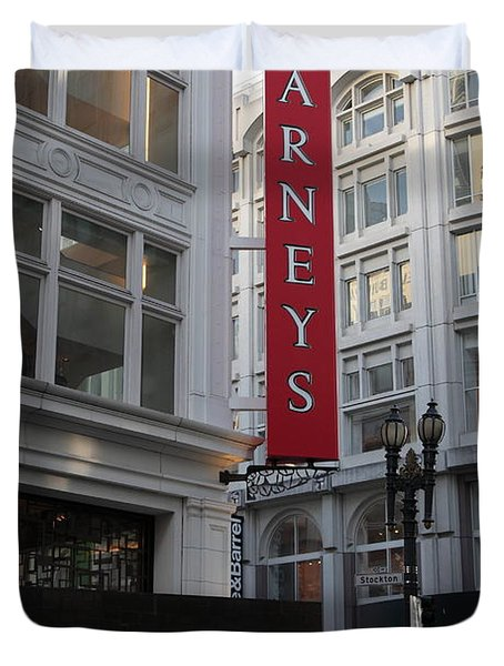 San Francisco Barneys Department Store - 5D20544 Duvet Cover by Wingsdomain Art and Photography