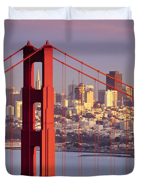San Francisco Duvet Cover by Brian Jannsen