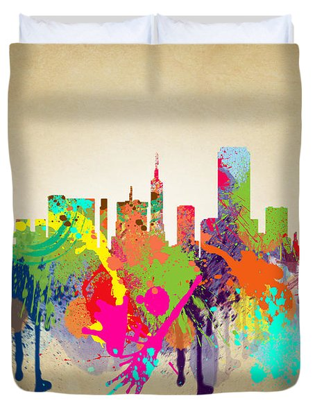 san francisco Citi Duvet Cover by Mark Ashkenazi