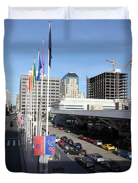 San Francisco Moscone Center and Skyline - 5D20511 Duvet Cover by Wingsdomain Art and Photography