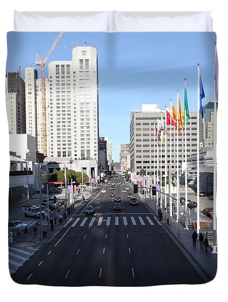 San Francisco Moscone Center and Skyline - 5D20513 Duvet Cover by Wingsdomain Art and Photography