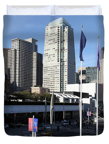 San Francisco Moscone Centerand And Skyline - 5d20504 Duvet Cover by Wingsdomain Art and Photography
