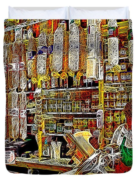 San Francisco North Beach Deli 20130505v1 Duvet Cover by Wingsdomain Art and Photography