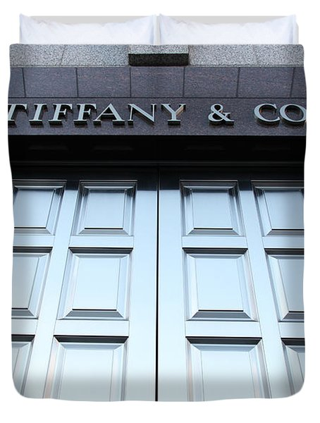 San Francisco Tiffany And Company Store Doors - 5d20562 Duvet Cover by Wingsdomain Art and Photography