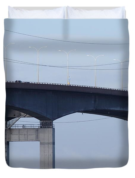 San Mateo Bridge In The California Bay Area 7d21910 Duvet Cover by Wingsdomain Art and Photography