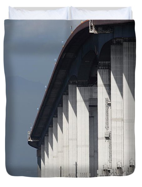 San Mateo Bridge In The California Bay Area 7d21935 Duvet Cover by Wingsdomain Art and Photography