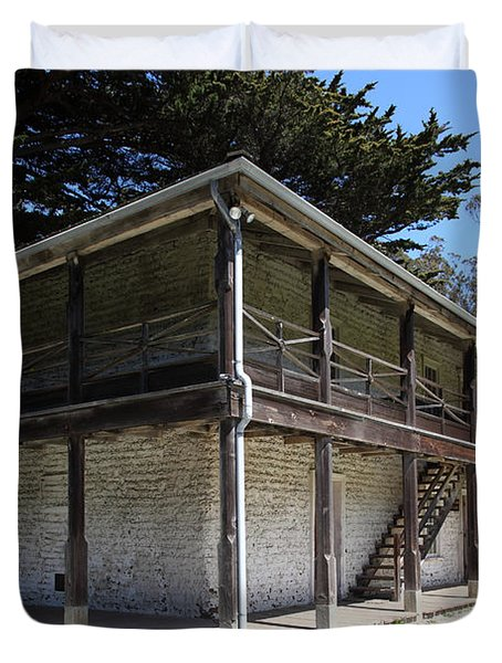 Sanchez Adobe Pacifica California 5d22642 Duvet Cover by Wingsdomain Art and Photography