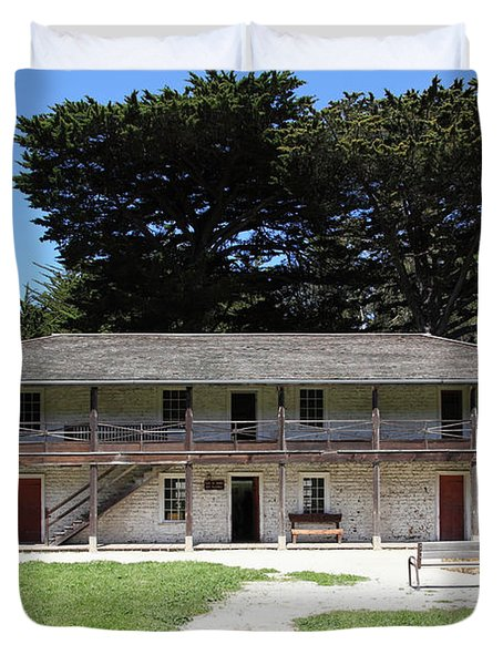 Sanchez Adobe Pacifica California 5d22644 Duvet Cover by Wingsdomain Art and Photography
