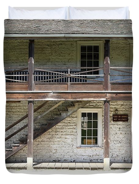 Sanchez Adobe Pacifica California 5D22655 Duvet Cover by Wingsdomain Art and Photography