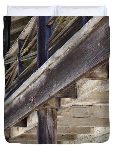 Sanchez Adobe Pacifica California 5D22658 Duvet Cover by Wingsdomain Art and Photography