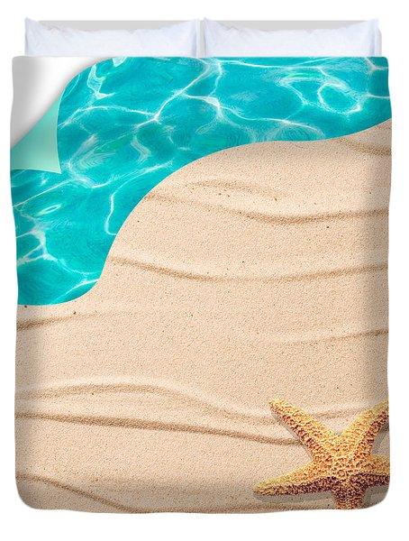 Sand Background Duvet Cover by Amanda Elwell