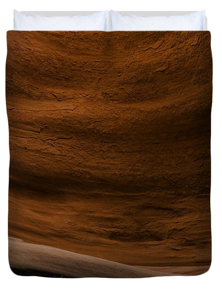 Sandstone Flow Duvet Cover by Chad Dutson