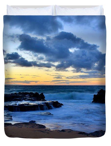 Sandy Beach Sunrise 6 - Oahu Hawaii Duvet Cover by Brian Harig