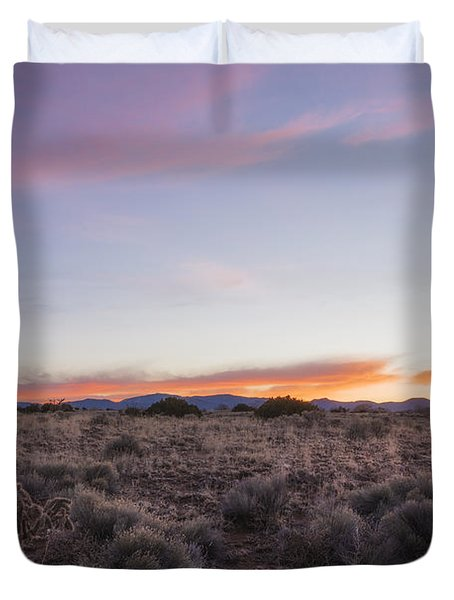 Sangre De Christo Mountains Sunrise 2 - Santa Fe New Mexico Duvet Cover by Brian Harig