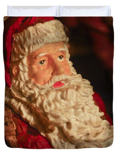 Santa Claus - Antique Ornament - 01 Duvet Cover by Jill Reger