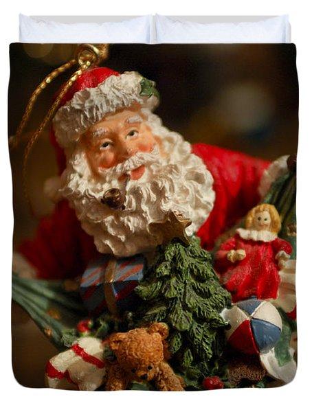 Santa Claus - Antique Ornament - 04 Duvet Cover by Jill Reger