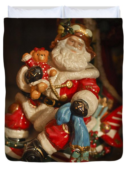 Santa Claus - Antique Ornament -05 Duvet Cover by Jill Reger