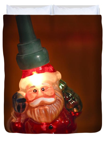 Santa Claus - Antique Ornament - 06 Duvet Cover by Jill Reger