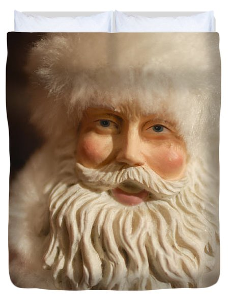 Santa Claus - Antique Ornament - 07 Duvet Cover by Jill Reger