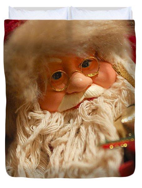 Santa Claus - Antique Ornament - 08 Duvet Cover by Jill Reger