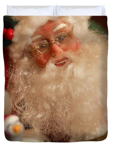 Santa Claus - Antique Ornament - 11 Duvet Cover by Jill Reger