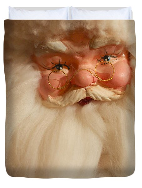 Santa Claus - Antique Ornament - 14 Duvet Cover by Jill Reger