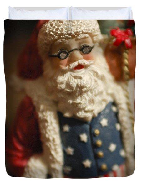 Santa Claus - Antique Ornament - 15 Duvet Cover by Jill Reger