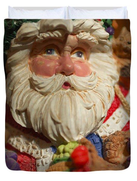 Santa Claus - Antique Ornament - 20 Duvet Cover by Jill Reger