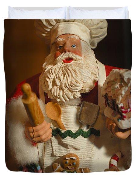 Santa Claus - Antique Ornament - 22 Duvet Cover by Jill Reger