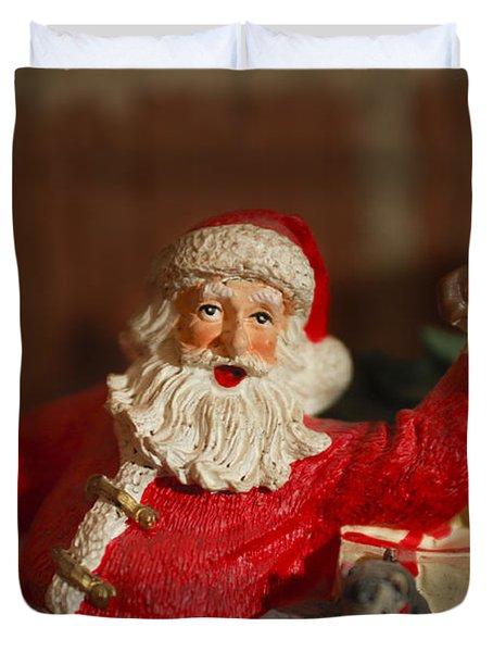Santa Claus - Antique Ornament - 26 Duvet Cover by Jill Reger