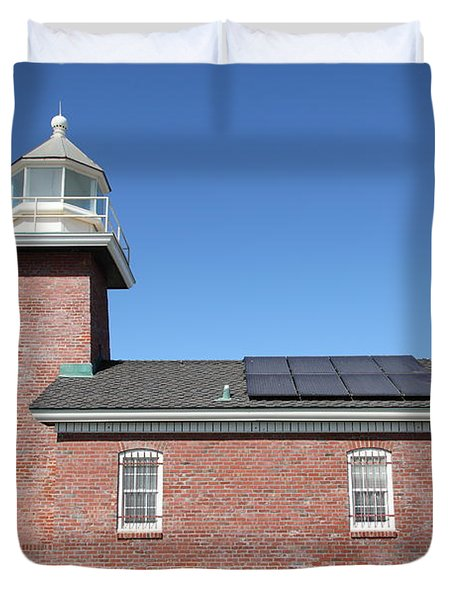 Santa Cruz Lighthouse Surfing Museum California 5d23942 Duvet Cover by Wingsdomain Art and Photography