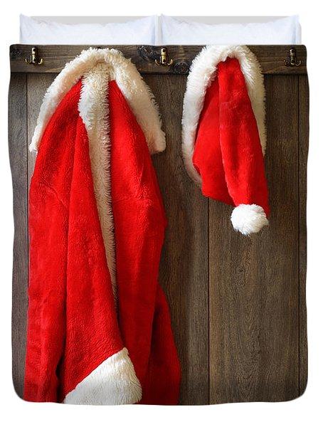 Santa's Coat Duvet Cover by Amanda And Christopher Elwell