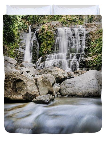 Santo Cristo Falls Duvet Cover by Oscar Gutierrez