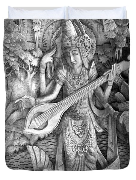 Saraswati - Supreme Goddess Duvet Cover by Karon Melillo DeVega