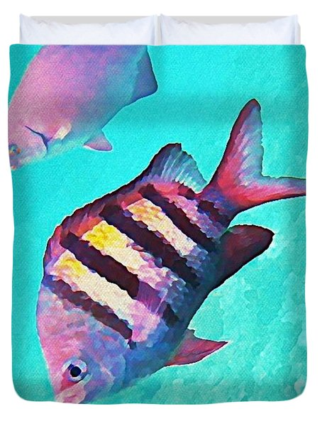 Sargeant Fish Duvet Cover by John Malone
