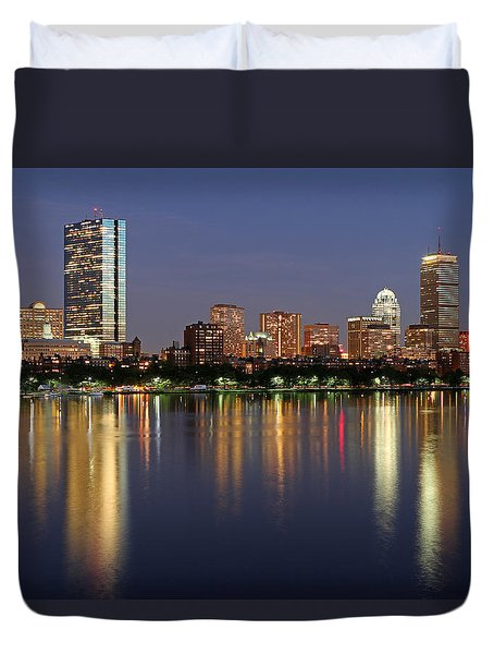 Saturday Night Live in Beantown Duvet Cover by Juergen Roth