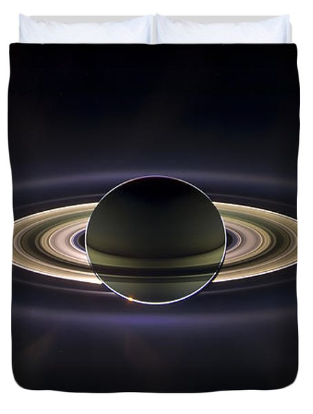 Saturn Duvet Cover by Adam Romanowicz