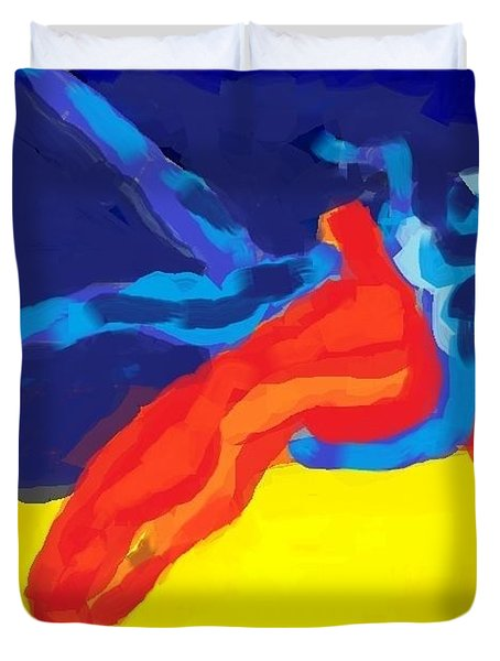 Save olympic wrestling Duvet Cover by Hilde Widerberg