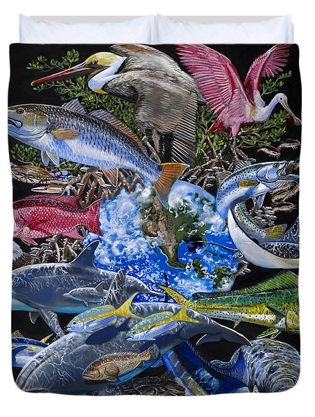 Save Our Seas In008 Duvet Cover by Carey Chen