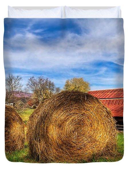 Scarecrow's Dream Duvet Cover by Debra and Dave Vanderlaan