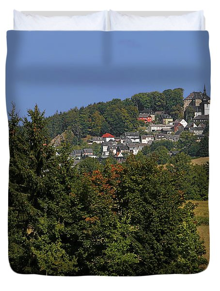 Schauenstein - A Typical Upper-franconian Town Duvet Cover by Christine Till