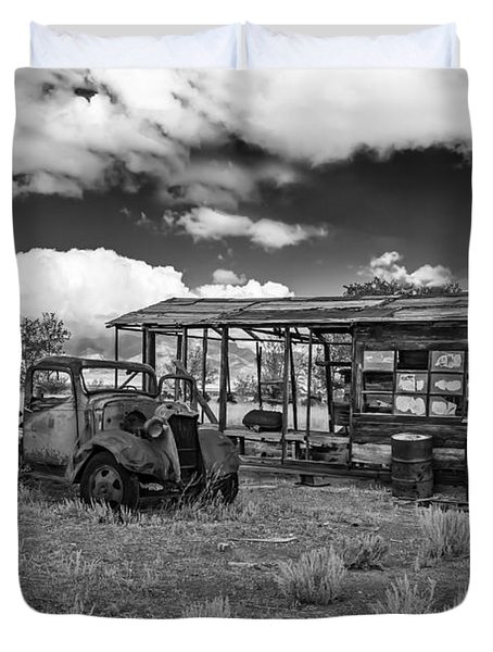 Schellbourne Station And Old Truck Duvet Cover by Robert Bales