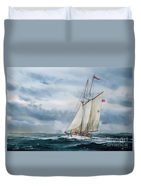 Schooner Adventuress Duvet Cover by James Williamson