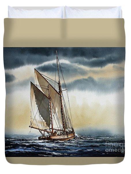 Schooner Duvet Cover by James Williamson