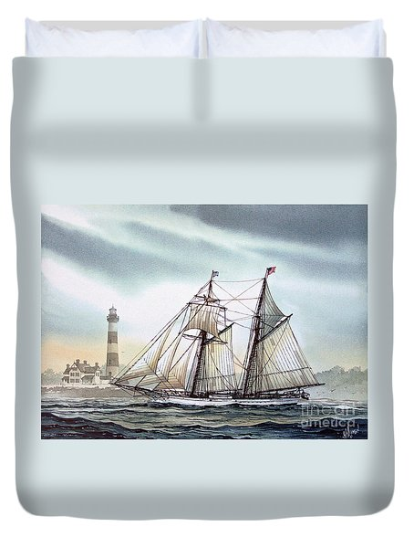 Schooner Light Duvet Cover by James Williamson