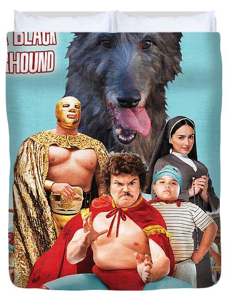 Scottish Deerhound Art - Nacho Libre Movie Poster Duvet Cover by Sandra Sij