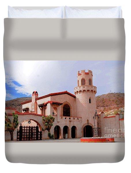 Scotty's Castle Duvet Cover by Kathleen Struckle
