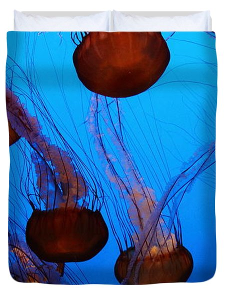 Sea Nettle Jelly Fish 5D25075 Duvet Cover by Wingsdomain Art and Photography