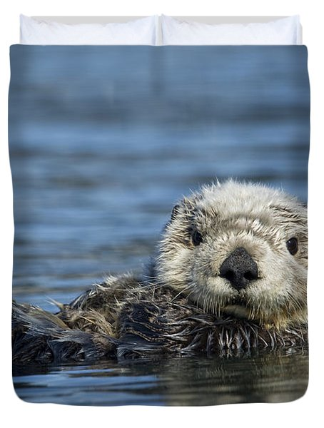 Sea Otter Alaska Duvet Cover by Michael Quinton