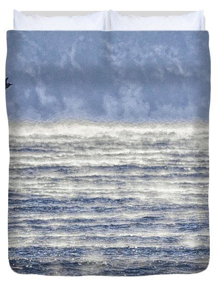Sea Smoke And Gull Blues Duvet Cover by Marty Saccone